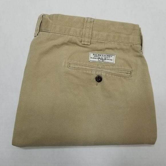Polo Ralph Lauren Custom Fit Salmon Flat Front Casual Pants Mens NWT